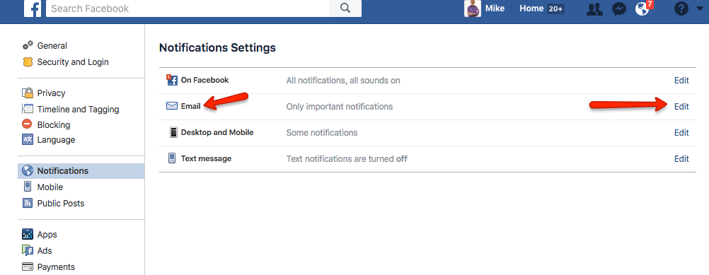Facebook no notifications