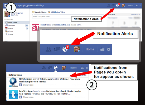 Facebook Page Notifications
