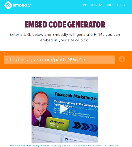 how to embed instagram videos in your blog or website
