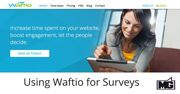 Using Waftio for Surveys 315