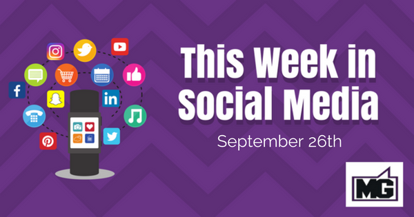Facebook Updates and Instagram Updates for September 26