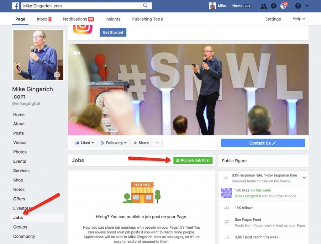 How Do I Manage Job Posts for my Facebook Page 1