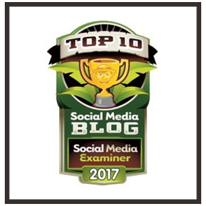 Proud to be named a Top 10 Blog in the Social Media Examiner Contest