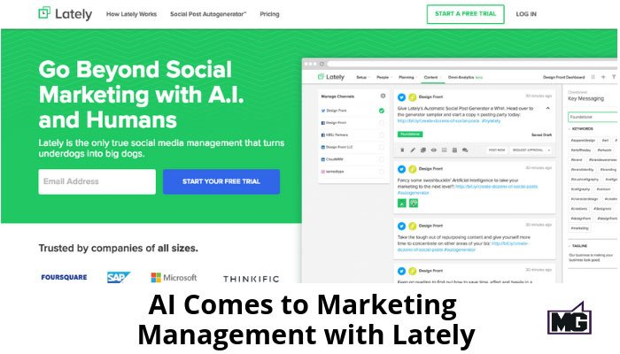 AI Comes to Marketing Management: A Review of Lately