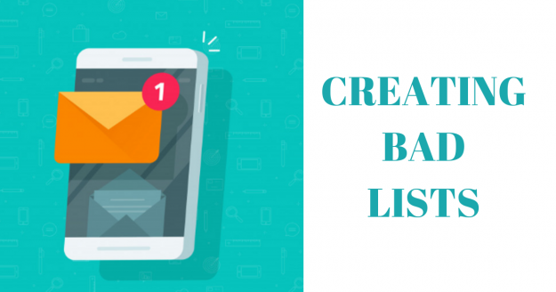 creating bad lists email marketing mistakes