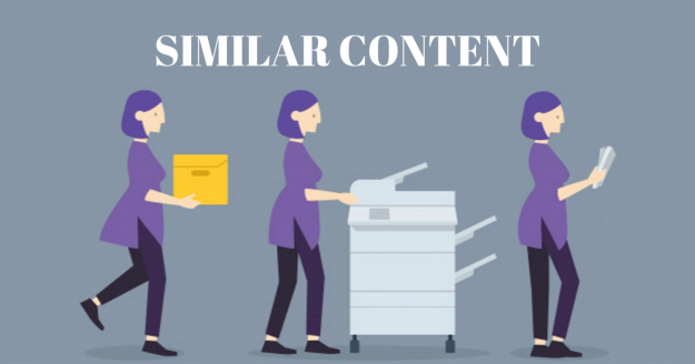 similar content email marketing mistake