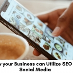 Social media page on mobile phone.