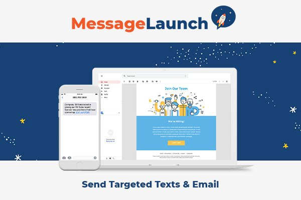 Message Launch mass texting system