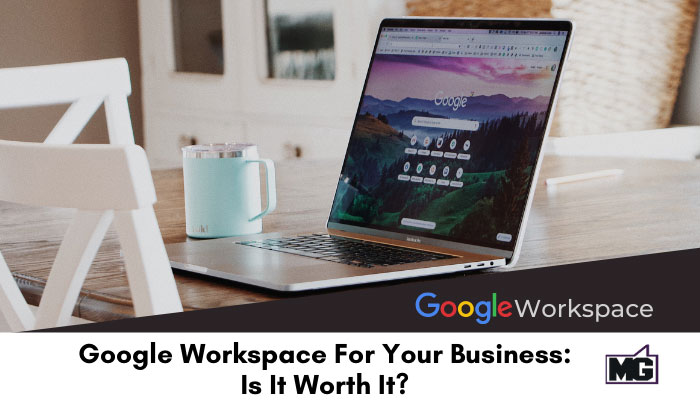 Computer screen with Google-Workspace For Your Business.
