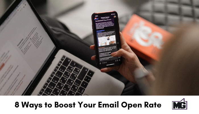 Showing email on a desktop and mobile phone.