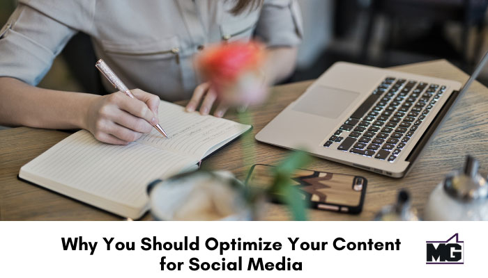 Optimize your content for social media.